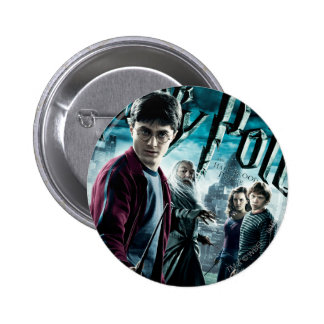 Harry Potter With Dumbledore Ron and Hermione 1 2 Inch Round Button