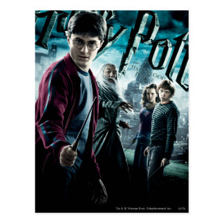 Harry Potter With Dumbledore Ron and Hermione 1 Postcard