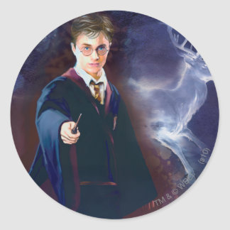 Harry Potter's Stag Patronus Classic Round Sticker