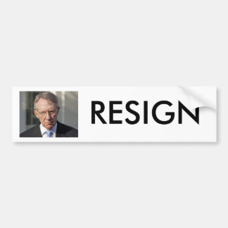 HARRY REID RESIGN BUMPER STICKER