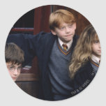 Harry, Ron, and Hermione Classic Round Sticker