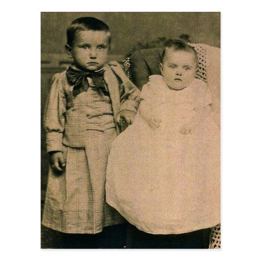 Harry & Rosie, children of Hal & Lottie ZARFOS Post Cards