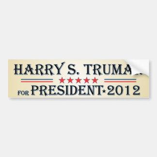 Harry S Truman 2012 Bumper Sticker