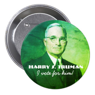 Harry S. Truman 3 Inch Round Button