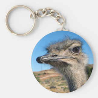 Harry the Happy Ostrich Keychain