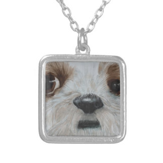 Harry the Shih Tzu Silver Plated Necklace