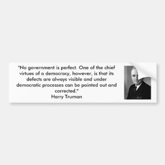 Harry Truman - Democracy Bumper Sticker