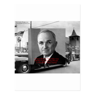 """Harry Truman """"Never Gave Hell"""" Wisdom Quote Gifts Postcard"""