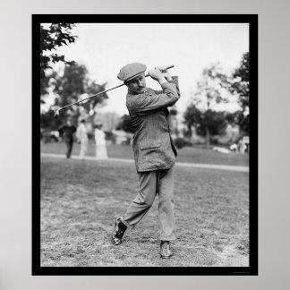 Harry Vardon, Six Time US Open Golf Champion 1914 Poster