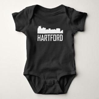 Hartford Connecticut City Skyline Baby Bodysuit