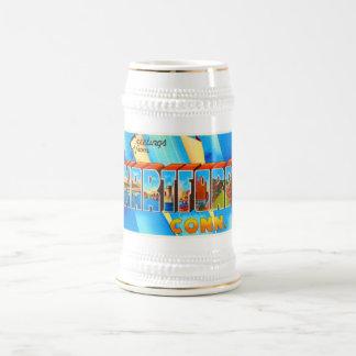 Hartford Connecticut CT Vintage Travel Souvenir Beer Stein