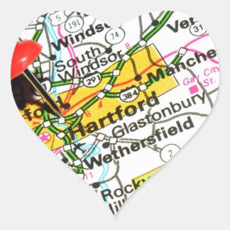 Hartford, Connecticut Heart Sticker