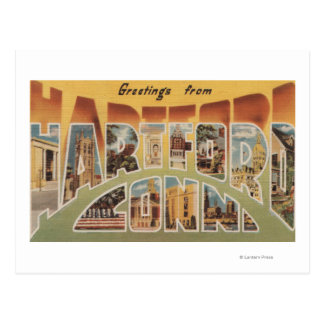 Hartford, Connecticut - Large Letter Scenes 3 Postcard