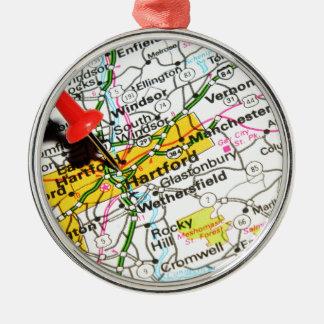 Hartford, Connecticut Metal Ornament