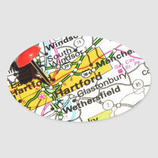 Hartford, Connecticut Oval Sticker