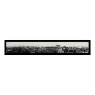 Hartford, Connecticut Panoramic Photo 1913 Poster