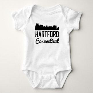 Hartford Connecticut Skyline Baby Bodysuit