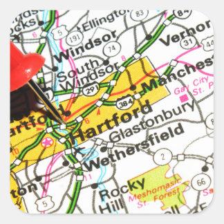 Hartford, Connecticut Square Sticker