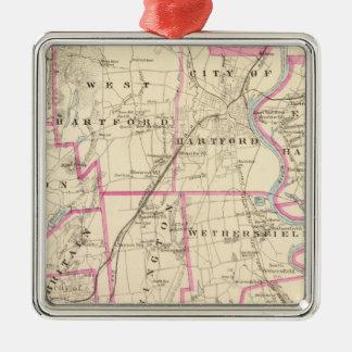 Hartford County Connecticut Metal Ornament