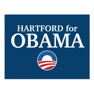 HARTFORD for Obama custom your city personalized Postcard