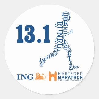 Hartford Half-Marathon: 13.1 Classic Round Sticker