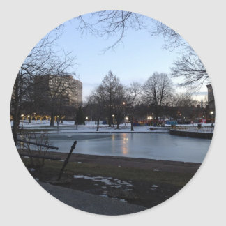 Hartford postcard - Bushnell Park Classic Round Sticker