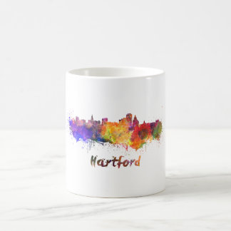 Hartford skyline in watercolor coffee mug