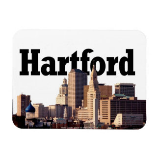 Hartford Skyline with Hartford in the Sky Rectangular Photo Magnet