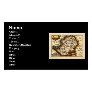 """Hartfordeshire"" Hertfordshire County Map Business Card"