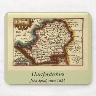 """Hartfordeshire"" Hertfordshire County Map Mouse Pad"