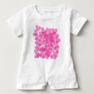Harts pattern baby romper