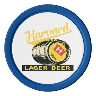 Harvard Lager Beer Poker Chips