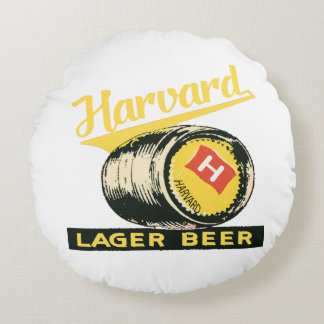 Harvard Lager Beer Round Pillow