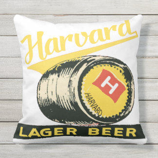 Harvard Lager Beer Throw Pillow