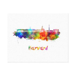 Harvard skyline in watercolor canvas print