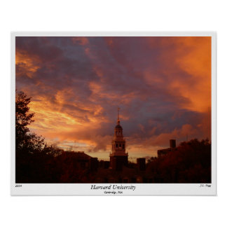 Harvard University, 2004, by J.L. Pegg Poster