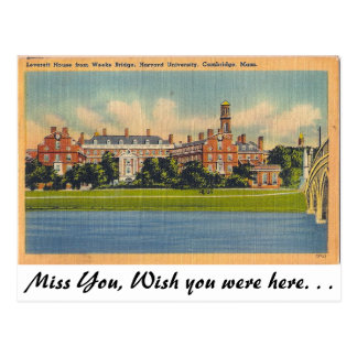 Harvard University, Cambridge, Massachusetts Postcard