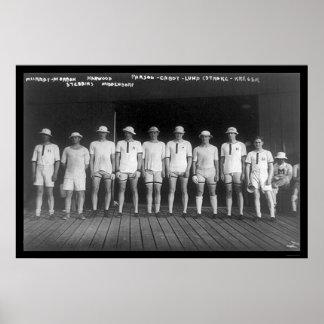 Harvard Varsity Rowing Crew 1915 Poster