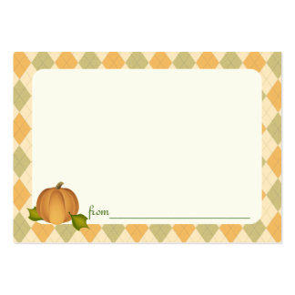 Harves Pumpkin Baby Shower Advice Cards Large Business Card
