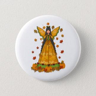 harvest angel Thanksgiving 2 Inch Round Button