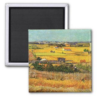 Harvest at La Crau - van Gogh Magnet