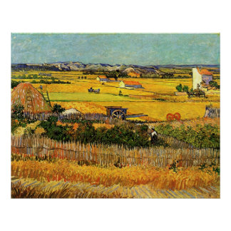 Harvest at La Crau - van Gogh Poster