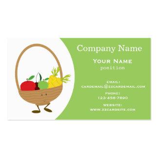 Harvest basket business card