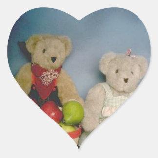 Harvest Bears Heart Sticker