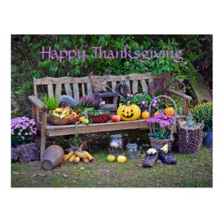 Harvest Bench Postcard