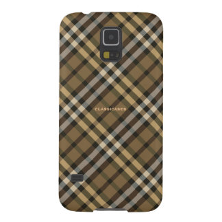 Harvest Brown Yellow Plaid Pattern Galaxy S5 Case