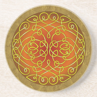 Harvest Celtic Art Curls Coaster