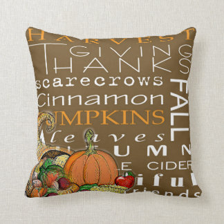 Harvest Fall Throw Pillow