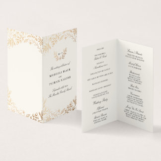 Harvest Flowers Mini Wedding Program Card