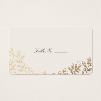 Harvest Flowers Table Place Card